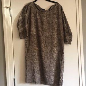 Zara silk medium cobra printed dress